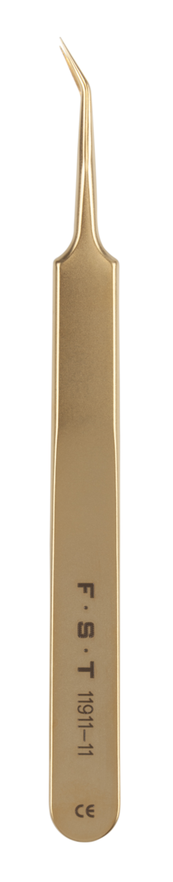 Gold Plated Forceps 0.1 x 0.06mm / 11